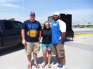 Me with Obby Khan and Brendon Labatte  (Former Winnipeg Blue Bombers)