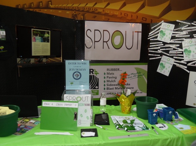 Sprout's booth at the Red River College Magazine Trade Fair.